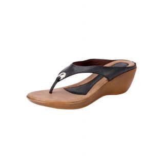Awssm Fashion Mid Wedge Slipper 6691_Awssm_Black