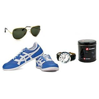 Original Combo Globalite Men Casual Shoes With Lotto Watch And  Lotto Sunglass
