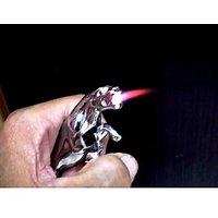 Jaguar Jet Flame Pocket Lighter Chrome Stainless Steel Metal Body