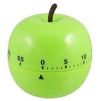 Green Apple Shape 60 Minutes Alarm Kitchen Timer