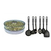 COMBO OF SPROUT MAKER 1 COMPARTMENTS WITH KITCHEN TOOL SET OF 6 PCS.