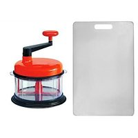 COMBO OF CHOP N CHURN FOOD PROCESSOR WITH KITCHEN CHOPPING BOARD WHITE COLOR.