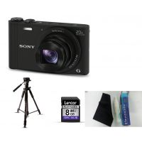 Sony DSC-WX350 Camera Combo With Tripod + Extra 8GB Memory Card + Screen Protect