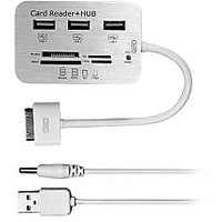 Ipad USB / SD Card Connection Kit - 3 Port USB Hub With Card Reader