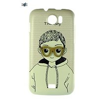 Lovely Girl/Boy Patterned Hard Back Cover For Micromax Canvas2 A110.