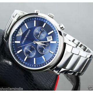Emporio Armani AR 2448 Blue Dial Chronograph Wrist Watch For Men [CLONE]