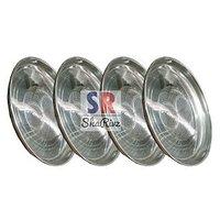 Stainless Steel  Serving Designer Plates Set Of 4