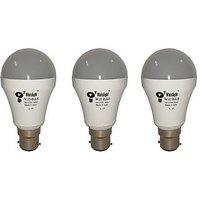 Whizlight 7-Watt LED Bulb (Cool Day Light) Base B22d Pack Of 3