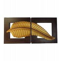Wood Ocean Leaf Design Wall Art