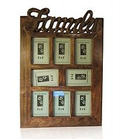 Wood Ocean Family Picture Frame - Light Brown