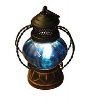 Wood Ocean  Blue Lantern Lamp