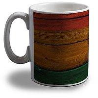 Lion On Wood Coffee Mug