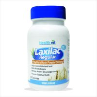 Healthvit Laxilac Regular Psyllium Husk Powder 60 Capsules