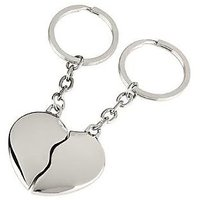 (DISCOUNT PACK OF 2) BROKEN HEART Key Chain Metallic Keychain Car And Bike Key Ring Stylish Keyring