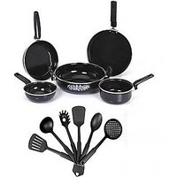 11 Pieces Kitchen Combo - 5 Pieces Set Of Cookware & 6 Kitchen Tools SJ