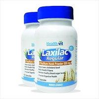 Healthvit Laxilac Regular Psyllium Husk Powder 60 Capsules Pack Of 2
