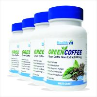 Healthvit Green Coffee Bean Extract 800 Mg  60 Capsules Pack Of 4