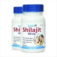 Healthvit Shilajit 60 Capsules Increases Stamina & Sexual Health Pack Of 2