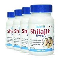 Healthvit Shilajit 60 Capsules Increases Stamina & Sexual Health Pack Of 4