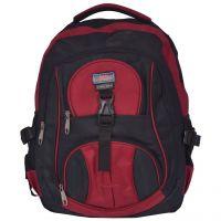 NSN Backpack Bag With Laptop Pocket In Red & Black Color