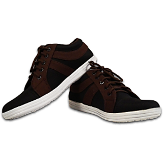Austrich Black & Brown Casual Shoes