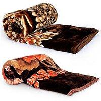 Designer Floral Print Double N Single Blanket Set 403