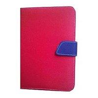 J & A Universal Flip Case Cover For Dell Streak 7 (Red & Blue)
