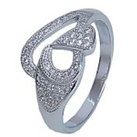 Feel Joyful With AMAN Sterling Silver Ring For Ladies For Engagement Rings