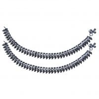 Feel Pampered With AMAN Silver Anklets For Casual Wear And Diamond - 7214910