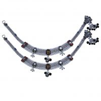 Feel Delighted With AMAN Silver Anklets For Casual Wear And Men's Jewellery