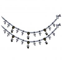 Feel Assured With AMAN Silver Anklets For Casual Wear Exclusively For Women