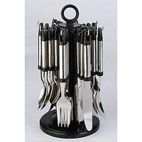Elegante Stainless Steel, Plastic Cutlery Set SL-116 (Pack Of 24)