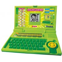 Prasid Cool Green English Learner Kids Laptop 20 Activities