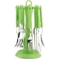 Elegante Stainless Steel, Plastic Cutlery Set SL 122A (Pack Of 24)