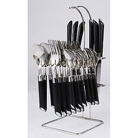 Elegante Stainless Steel, Plastic Cutlery Set SL-109 (Pack Of 24)