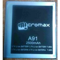 GENUINE MICROMAX A91 Battery-2500 MAh FOR Micromax-A91