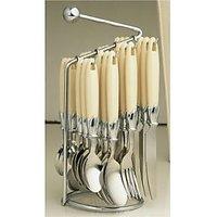 Elegante Stainless Steel, Plastic Cutlery Set SL-111 (Pack Of 24)