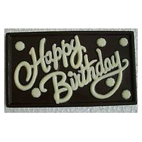 HAPPY BIRTHDAY DARK CHOCOLATE WALL With Gift Box