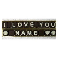 I Love You Name Chocolate SMS, With Gift Box