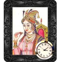 Panache Designer With Lady Theme Table Clock