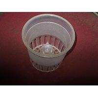 Transparent Orchid Pots 13 Cm X 13 Cm (Pack Of 4)