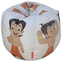 Chhota Bheem STR185001 Bean Bag(White Size - Large) Cover Only