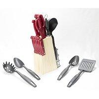 18 Pcs ABS Knife Set (Red)