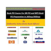 Bank PO Course By State Bank Officer - 18 Pieces Of HD DVD Course -Hindi Version