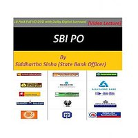 SBI Bank PO DVD Course By Siddhartha Sinha (State Bank Officer) 18 Pack Full HD