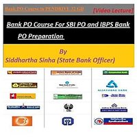 Bank PO Course For SBI PO And IBPS Bank PO Preparation Video Lectures In PENDRIV - 72203358