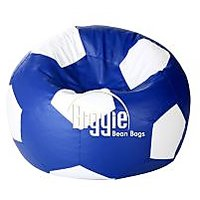 Cozy Bags Bean Footbal  XL Size Blue White Without Beans