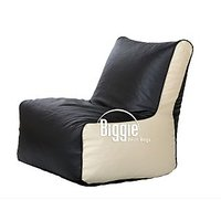 Cozy Bags Bean Chair XL Size Black + Cream Without Beans