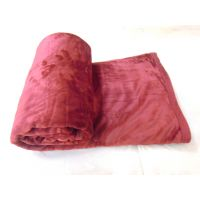 Satcap Seasame Plain Imported Ultrasoft Blanket With Velour Border Mahroo Single