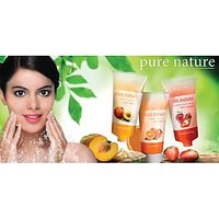 Pure Nature Strawberry, Orange And Peach Fruit Extract Face Wash